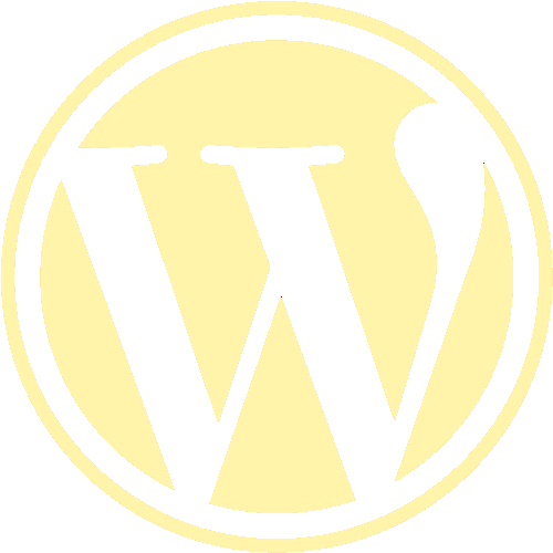 wordpress logo yellow